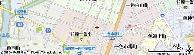 愛知県稲沢市一色中屋敷町周辺の地図