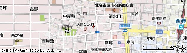 オン・ライン周辺の地図