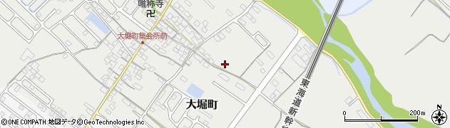 滋賀県彦根市大堀町周辺の地図