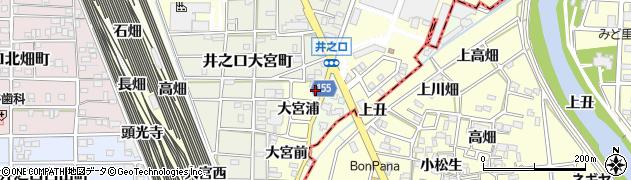 愛知県稲沢市井之口町(南センドフ)周辺の地図