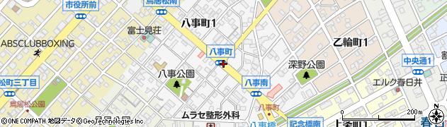 愛知県春日井市八事町周辺の地図