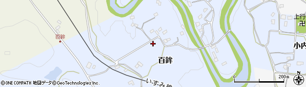 千葉県大多喜町(夷隅郡)百鉾周辺の地図