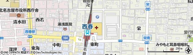 丸忠 寿司丸忠パレマルシェ西春店周辺の地図