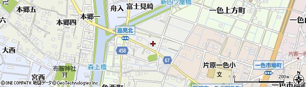 愛知県稲沢市一色巡見町周辺の地図