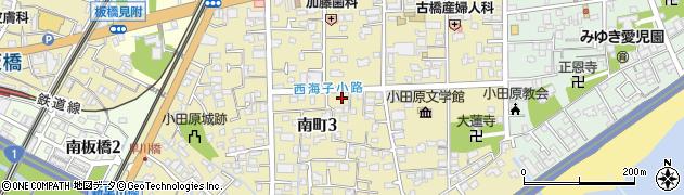 神奈川県小田原市南町周辺の地図