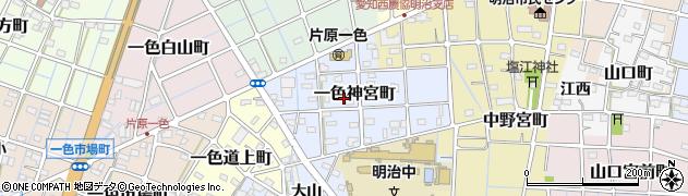 愛知県稲沢市一色神宮町周辺の地図