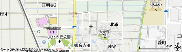 愛知県稲沢市長束町(東北浦)周辺の地図