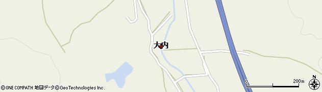 京都府福知山市大内周辺の地図
