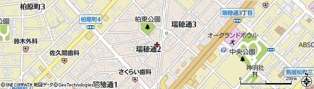 愛知県春日井市瑞穂通周辺の地図