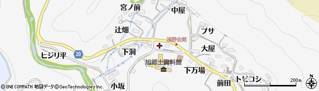 愛知県豊田市浅谷町(上万場)周辺の地図