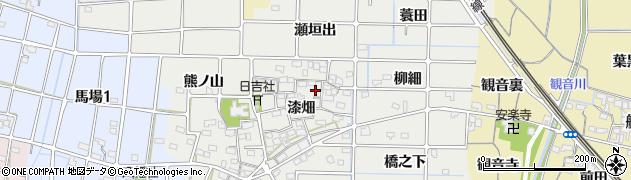 愛知県稲沢市法花寺町(漆畑)周辺の地図