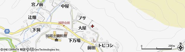 愛知県豊田市浅谷町(ブサ)周辺の地図
