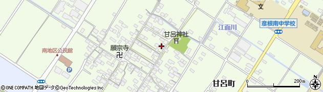 滋賀県彦根市甘呂町周辺の地図