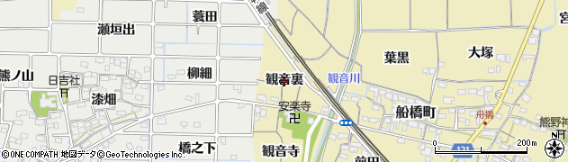 愛知県稲沢市船橋町(観音裏)周辺の地図