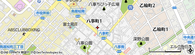 万吉 鳥居松店周辺の地図