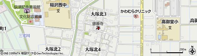 徳善寺周辺の地図