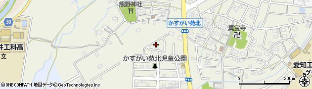 愛知県春日井市熊野町周辺の地図