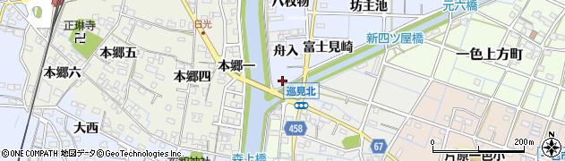 愛知県稲沢市片原一色町(堀詰)周辺の地図