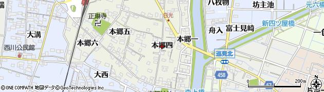 愛知県稲沢市祖父江町森上(本郷四)周辺の地図