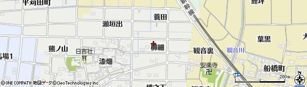 愛知県稲沢市法花寺町(柳細)周辺の地図