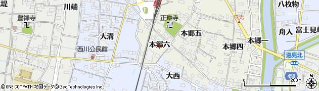 愛知県稲沢市祖父江町森上(本郷六)周辺の地図