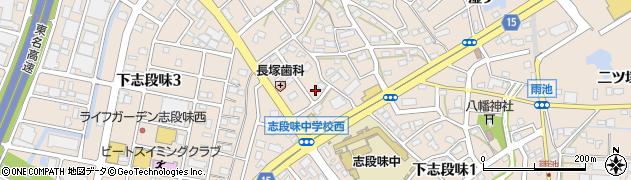 愛知県名古屋市守山区下志段味(上野山)周辺の地図