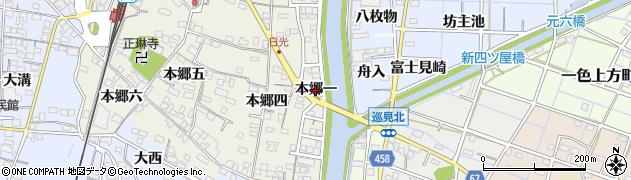 愛知県稲沢市祖父江町森上(本郷一)周辺の地図