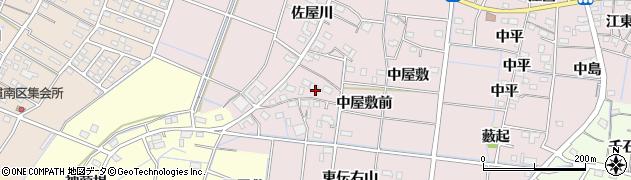 愛知県稲沢市祖父江町中牧(西伝右山)周辺の地図