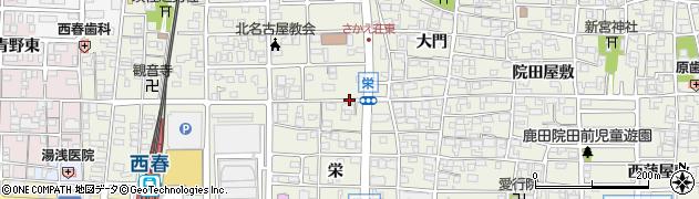 愛知県北名古屋市鹿田(三狐神附)周辺の地図