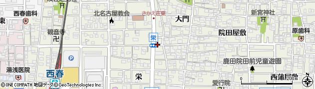 愛知県北名古屋市鹿田(三狐神北)周辺の地図