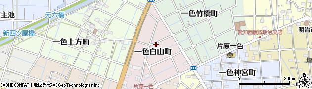 愛知県稲沢市一色白山町周辺の地図
