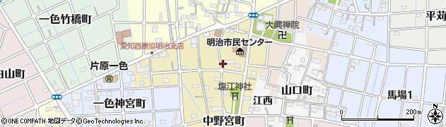 愛知県稲沢市中野宮町周辺の地図