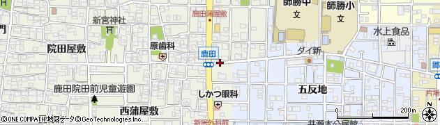 愛知県北名古屋市鹿田(南赤土)周辺の地図