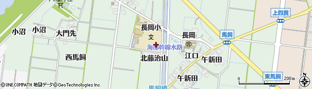 愛知県稲沢市祖父江町馬飼(江口)周辺の地図