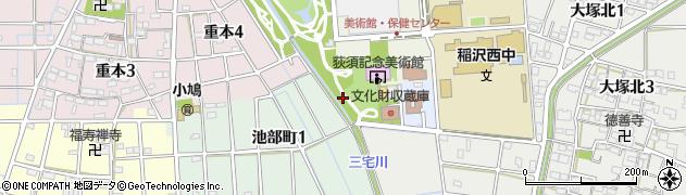 愛知県稲沢市池部町周辺の地図