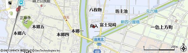 愛知県稲沢市片原一色町(舟入)周辺の地図