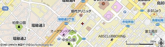 モンブラン周辺の地図