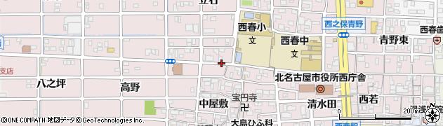 愛知県北名古屋市西之保(北屋敷)周辺の地図