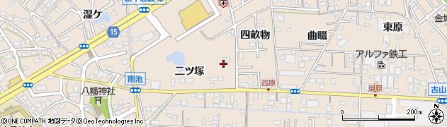 愛知県名古屋市守山区中志段味(二ツ塚)周辺の地図