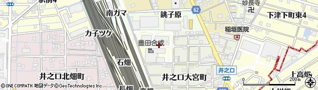 愛知県稲沢市井之口町(中四反畑)周辺の地図