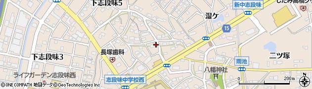 愛知県名古屋市守山区下志段味(唐曽)周辺の地図