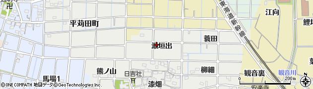 愛知県稲沢市法花寺町(瀬垣出)周辺の地図