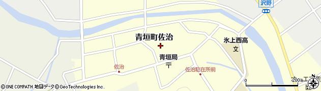 兵庫県丹波市青垣町佐治周辺の地図
