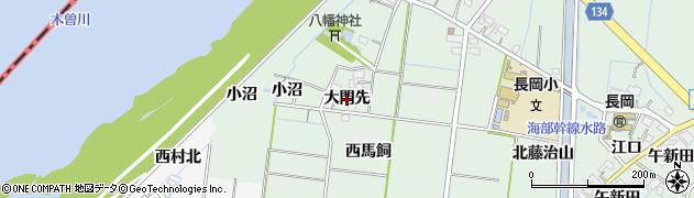 愛知県稲沢市祖父江町馬飼(大門先)周辺の地図