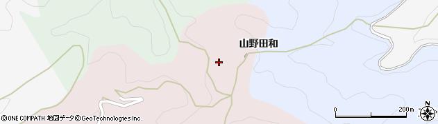 愛知県豊田市下中町(山野田和)周辺の地図