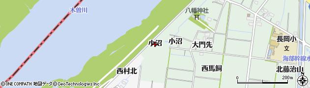 愛知県稲沢市祖父江町馬飼(小沼)周辺の地図