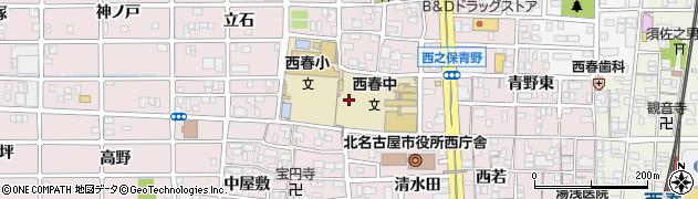 愛知県北名古屋市西之保(八龍)周辺の地図