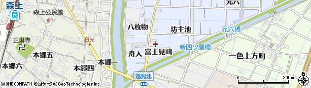愛知県稲沢市片原一色町(富士見崎)周辺の地図