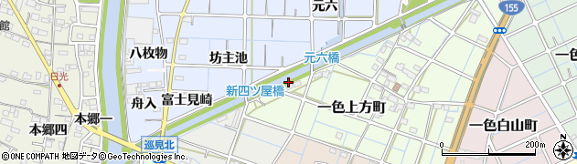 愛知県稲沢市片原一色町(矢倉下)周辺の地図
