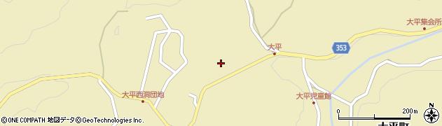 愛知県豊田市大平町(宮ケ洞)周辺の地図